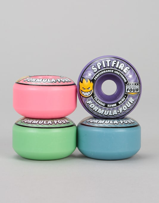 Spitfire Bloom Mash-Up Formula Four Classic 99d Team Wheel - 52mm