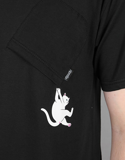 RIPNDIP Hang In There Pocket T-Shirt - Black