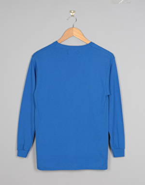 Route One Boys Logo LS T-Shirt - Royal Blue