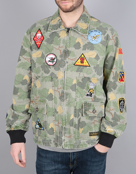 Diamond Supply Co. Pacific Tour Patch Jacket - Olive Camo