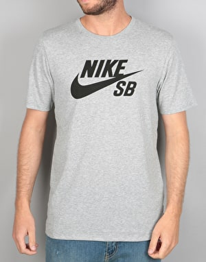 Nike SB Logo T-Shirt - Dark Grey Heather/Black