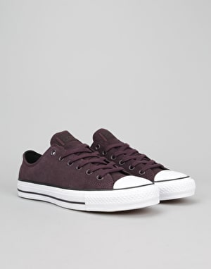 Converse Cons CTAS Pro Suede Skate Shoes - Black Cheery/Black/White