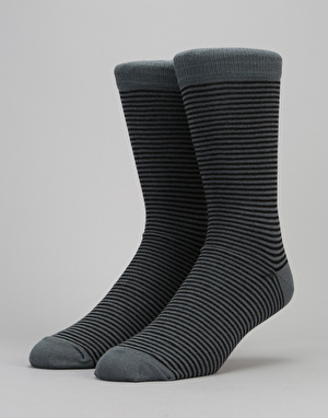 Route One Thin Stripe Socks - Black/Grey