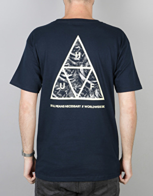HUF Triple Triangle UV T-Shirt - Navy