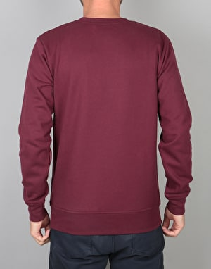 Nicce Keyline Top Sweatshirt - Burgundy