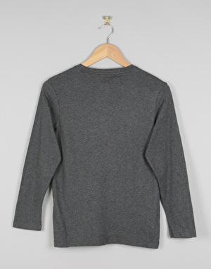Element Signature Long Sleeve Boys T-Shirt - Charcoal Heather