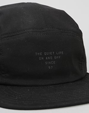 The Quiet Life Simple 5 Panel Cap - Black