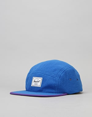 Herschel Supply Co. Glendale Polar Fleece 5 Panel Cap - Cobalt/Purple