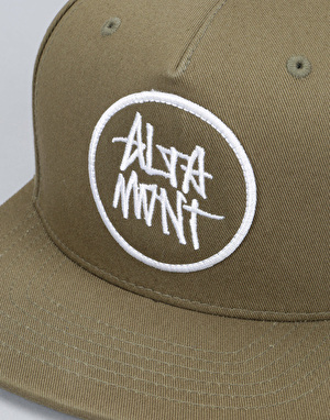 Altamont Stacked Snapback Cap - Olive