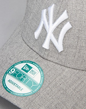 New Era MLB  New York Yankees Heather Essential Cap - Grey