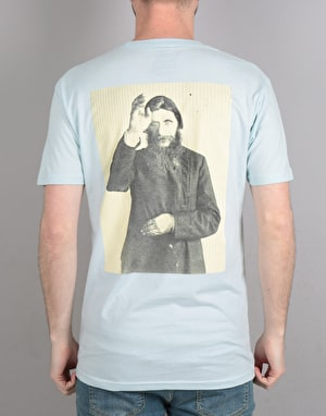 Theories Rasputin T-Shirt - Light Blue/Pollen