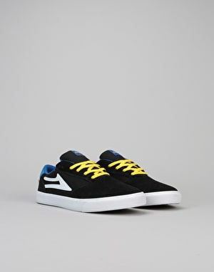 Lakai Pico Boys Skate Shoes - Black/Blue Suede