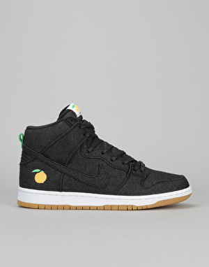 Nike SB Dunk High 'Momofuku' QS Skate Shoes - Black/Black-White-Orange