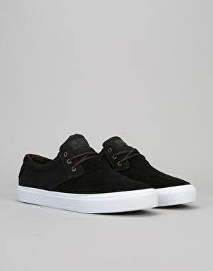 Lakai Daly (MJ) Skate Shoes - Black/White Suede