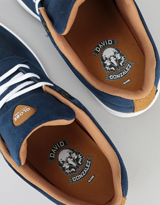 Globe The Eagle SG Skate Shoes - Navy/White