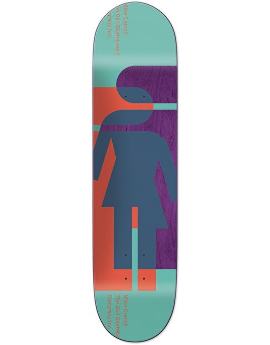 Girl Carroll Hardcourt Pro Deck - 8""