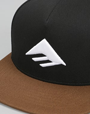 Emerica Triangle Snapback Cap - Black/Brown
