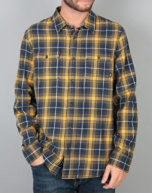 Vans Sycamore L/S Shirt - Mineral Yellow/Dress Blues