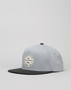 Herschel Supply Co. T.M. Snapback Cap - Heathered Grey/Black