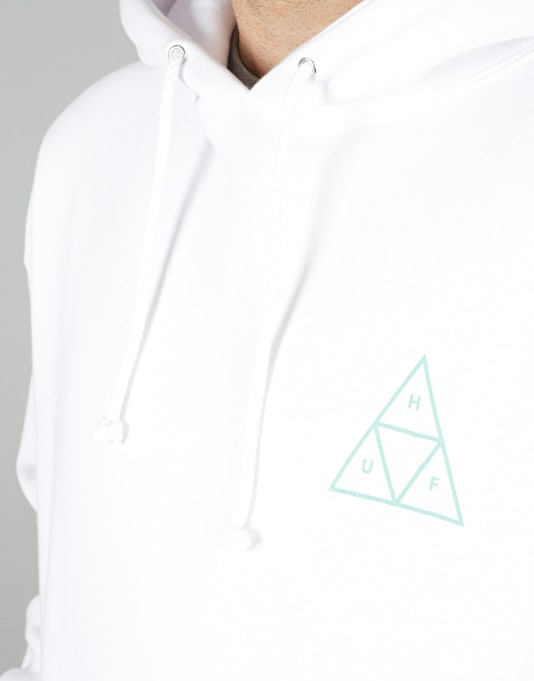 HUF Triple Triangle UV Pullover Hoodie - White