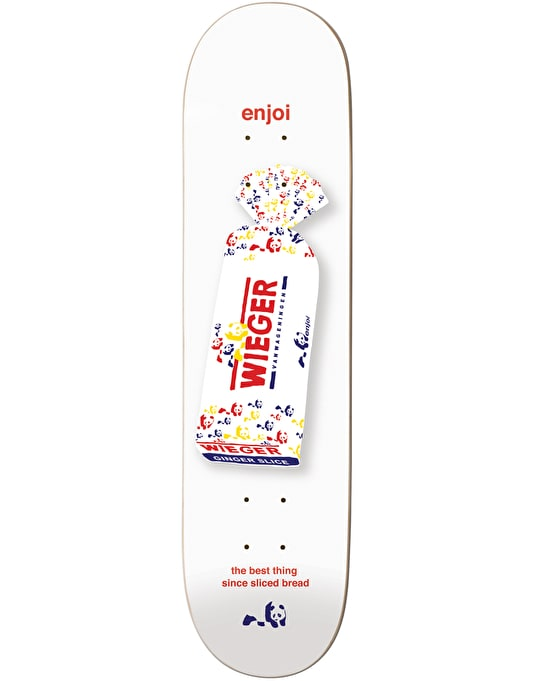 Enjoi Wieger White Bread Pro Deck - 8.375""