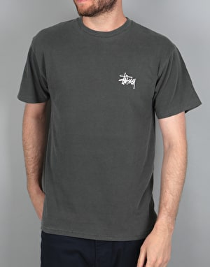 Stüssy Fire Dragon Pigment Dyed T-Shirt - Black