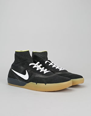 Nike SB Hyperfeel Koston 3 Skate Shoes - Black/White-Yellow Strike
