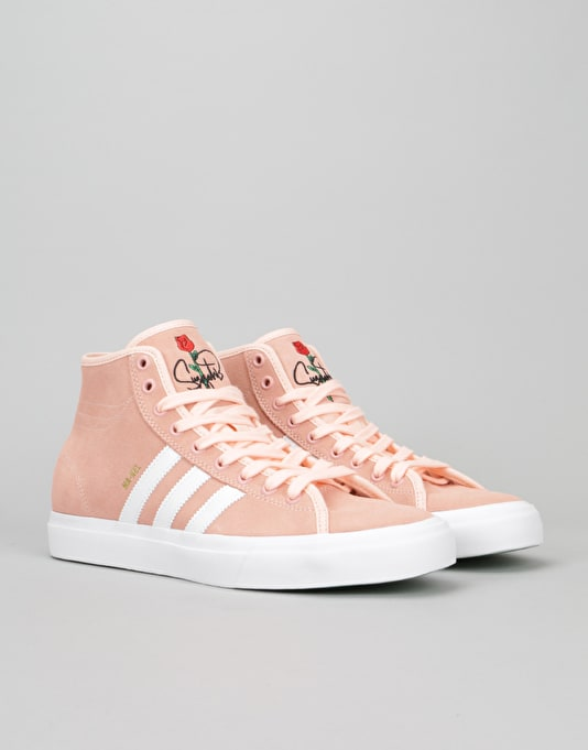 separation shoes 7f2d3 131f6 ... Adidas Matchcourt High RX Skate Shoes - Haze Coral White Haze Coral ...
