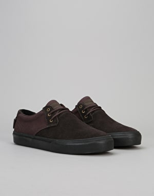 Lakai Daly (MJ) Skate Shoes - Brown/Black Suede