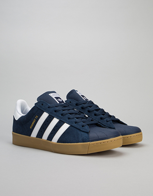 Adidas Superstar Vulc ADV Skate Shoes - Collegiate Navy/White/Gum