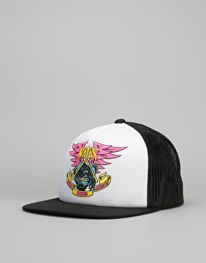 Santa Cruz Natas Panther Mesh Trucker Cap - White/Black