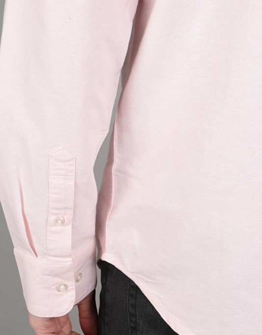 Obey Dissent II Woven L/S Shirt - Light Pink