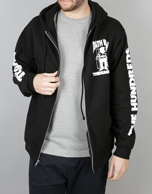 The Hundreds x Death Row Records Zip-Up Hoodie - Black