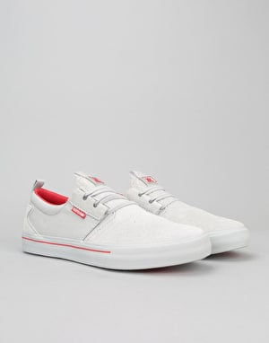 Supra Flow Skate Shoes - Grey/Red