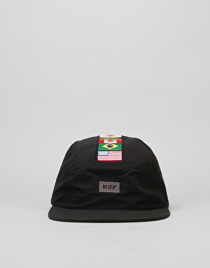 HUF Flags Volley 5 Panel Cap - Black