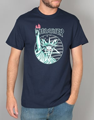 Thrasher Liberty Goat T-Shirt - Navy