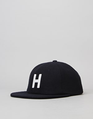 HUF Block H 6 Panel Cap - Navy