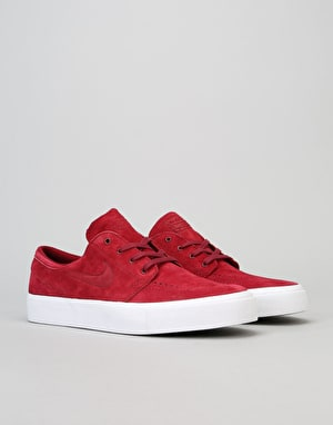 Nike SB Zoom Stefan Janoski Premium HT Skate Shoes - Team Red/White