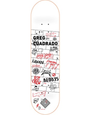 The National Skateboard Co. Cuadrado Wall Pro Deck - 8.125