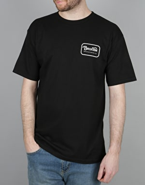 Brixton Grade T-Shirt - Black/White