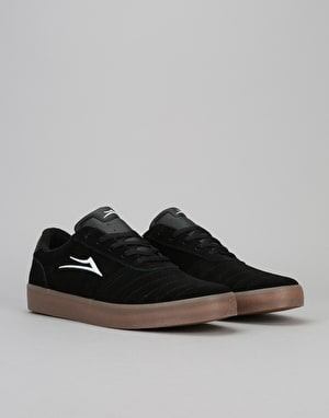 Lakai Salford Skate Shoes - Black/Gum Suede