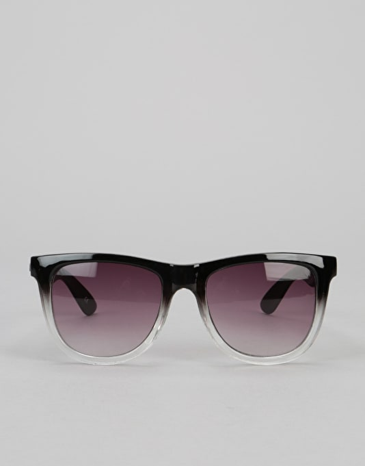 Santa Cruz Fifties Sunglasses - Black/Clear Fade