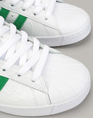 Adidas Pro Model Vulc ADV Skate Shoes - Ftwr White/Green/Ftwr White