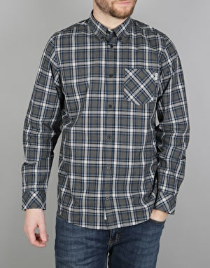 Carhartt L/S Leroy Shirt - (Leroy Check) Black Heather/Snow Rinsed