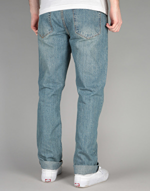Route One Slim Denim Jeans - Old Light Wash