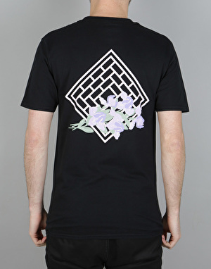 The National Skateboard Co. Iris T-Shirt - Black