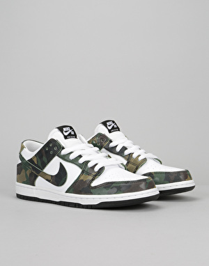 Nike SB Dunk Low Skate Shoes - Legion Green/Legion Green-White-Black