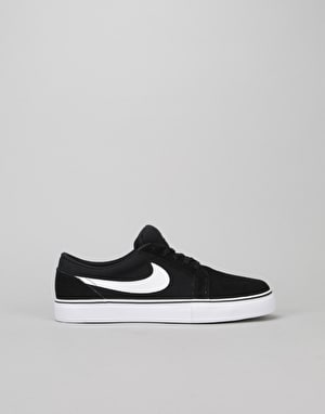 Nike SB Satire II Boys Skate Shoes - Black/White