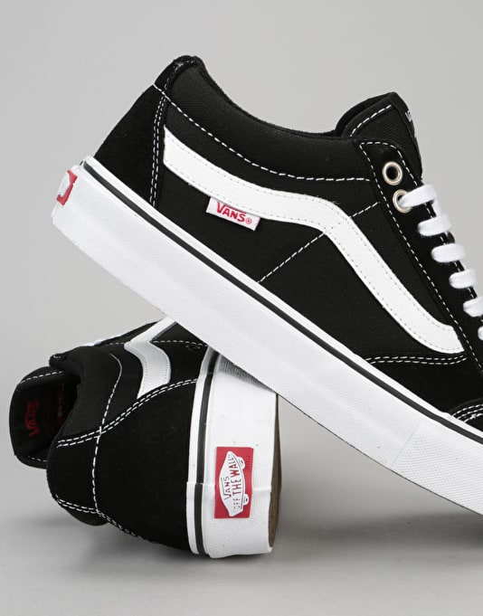 Vans TNT SG Pro Skate Shoes - Black/White