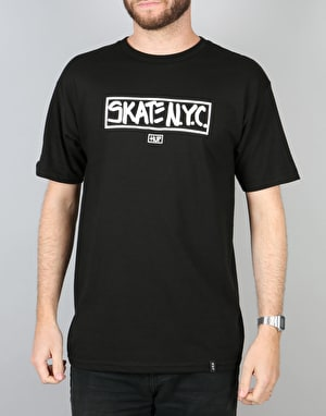 HUF x Skate NYC Address T-Shirt - Black